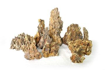 Natuurlijk hout en stenen