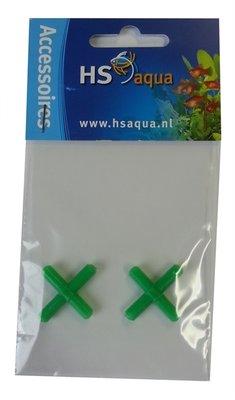HS AQUA KRUISSTUK PLASTIC GROEN 4-6 PER 2 ST.