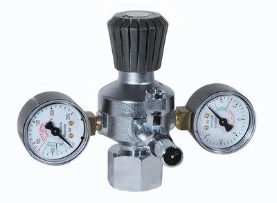 CO2-drukverlager 2 Manometer -met regelbare werkdruk + fijnregelventiel