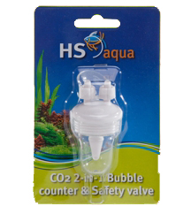 HS AQUA CO2 2-IN-1 BUBBLE COUNTER & SAFETY VALVE