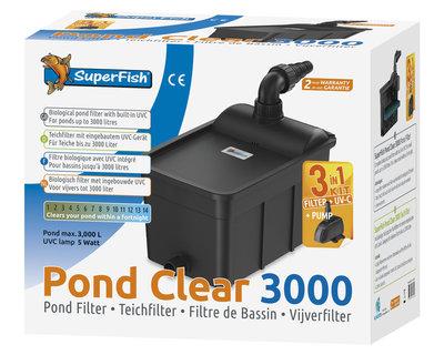 SUPERFISH PONDCLEAR KIT 3000 - UVC 5W- POMP 1000L/H