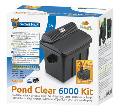 SUPERFISH PONDCLEAR KIT 6000 UVC-7W-POMP 2000 L/H