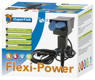 SUPERFISH FLEXI POWER STEKKERDOOS (8 MTR KABEL)