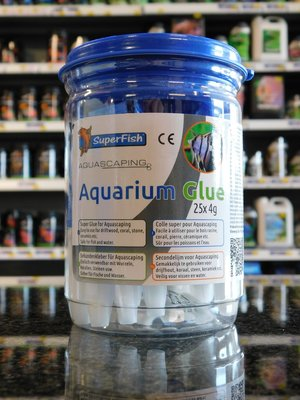 SUPERFISH AQUARIUMLIJM POT 25 STUKS